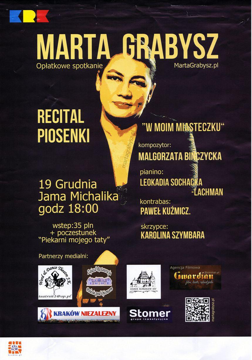 Marta Grabysz Recital Najlepsza Restauracja W Centrum