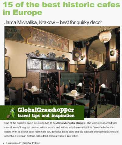 Jama Michalika nagroda Global Grasshopper