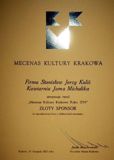 Jama Michalika Mecenasem 2014